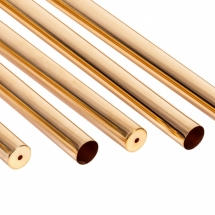 Deep-drawn precision sleeves and thin-walled tubes made of brass