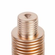 Fuelle metálico de Mera Bellows de bronce con terminación de rosca según especificación del cliente